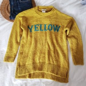 Girls Zara Knit Sweater Yellow Fancy Collection